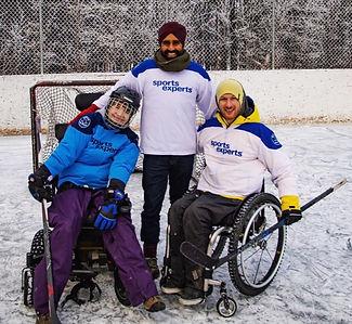 Wheelchair Hockey Players