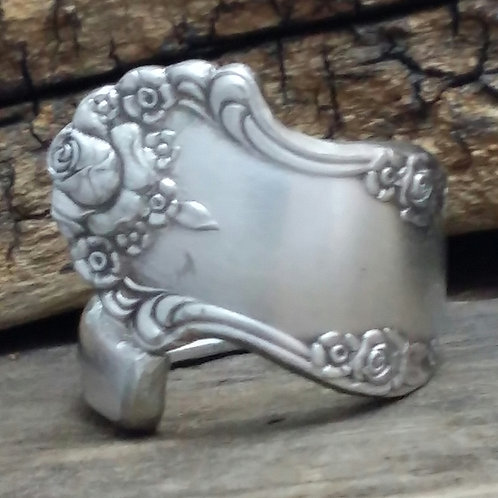 Recycled Spoon Ring, Silver Plate