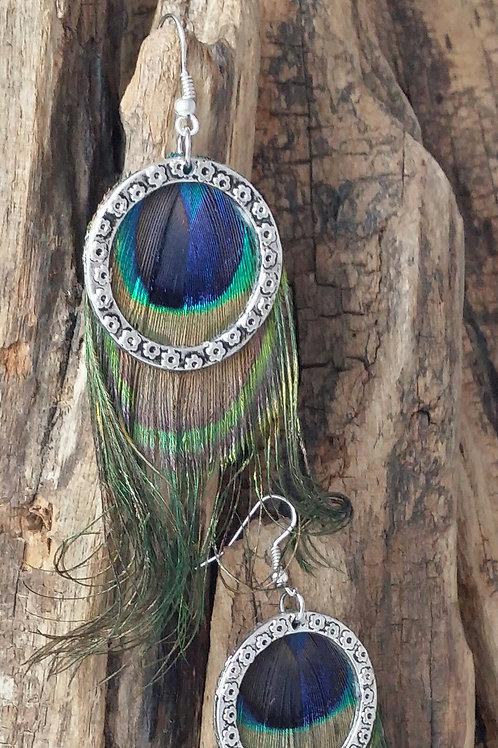 Peacock, Boho, Hippy Earrings