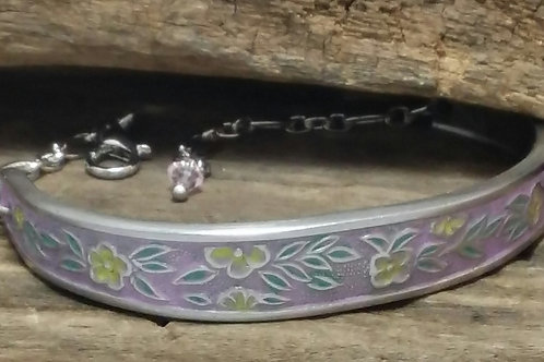 Recycled, Hand Enameled Spoon Bracelet