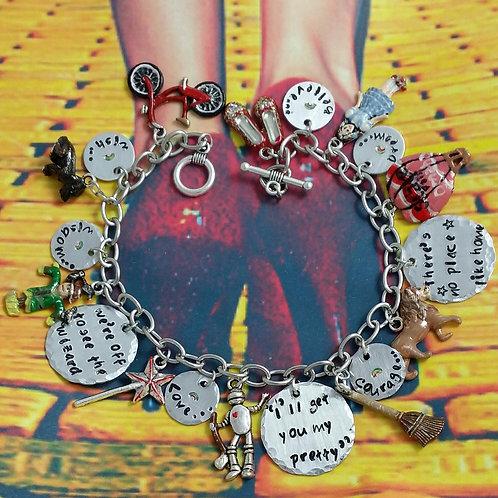 Wizard of Oz inspired chunky charm bracelet
