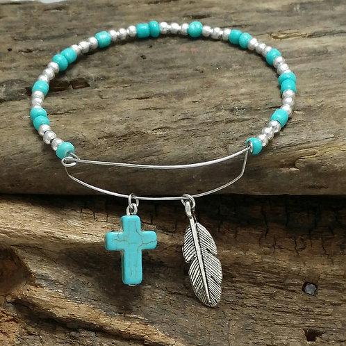 Boho, hippy, bangle bracelet