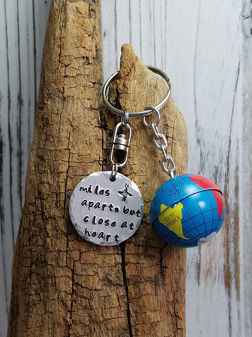 Miles Apart But Close At Heart Keychain