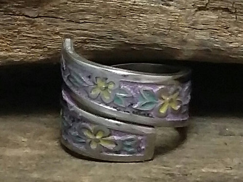 Recycled, Enameled Spoon Ring