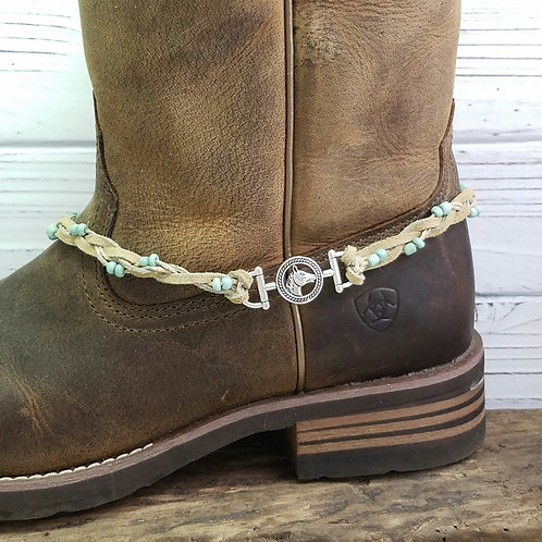 Boot Jewelry / Choker Necklace, Horse Back Riding