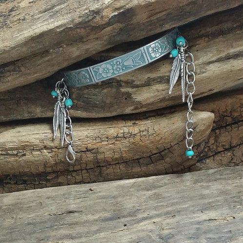 Boho, Hippy, Recycled flatware bracelet