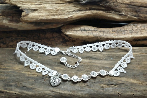 Lace wedding choker necklace