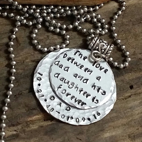 Memorial Necklace for Daughter (loss of parent)