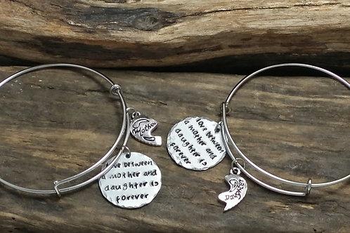 Mother, Daughter Bangle Bracelet Set