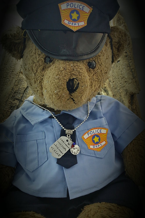 Law Enforcement Support Necklace and Bear Costume