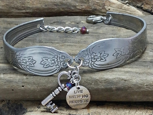 Boho, Hippy, Recycled flatware bracelet