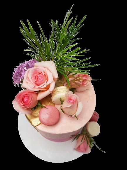 Custom Cake with Flowers
