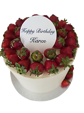 Birthday Cake with Plaque
