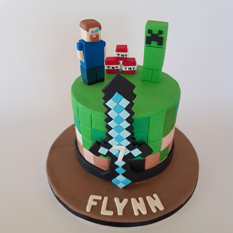 Mine craft Custom cake