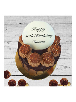 Rocher Drip Cake