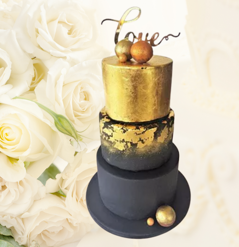 Celebration Cake 23 Carat Gold