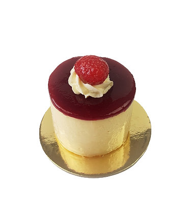 White Chocolate and Raspberry Mousse (min. 6 per order)
