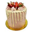 Strawberry Cake Drip Cake