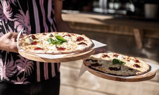 Pizza med chevre och fikonmarmelad