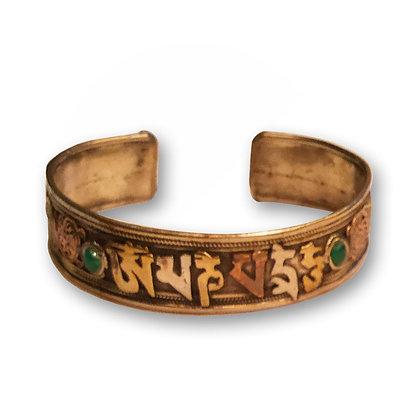 Bracelet Mantra - billes vertes