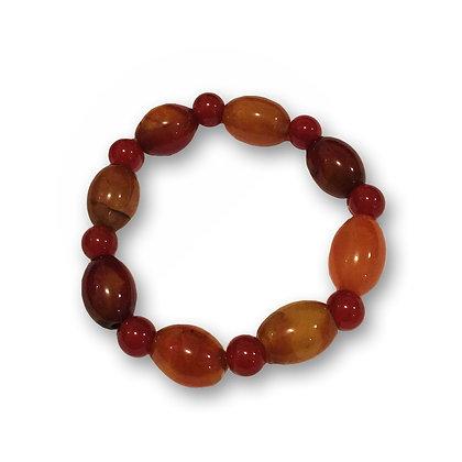 Bracelet pierres rouges
