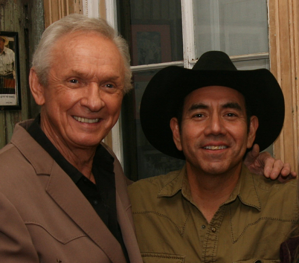 Hanging out with Mel Tillis at Gruene Hall.