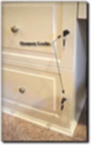 Custom built in cabinet locks installed in Aldie, VA