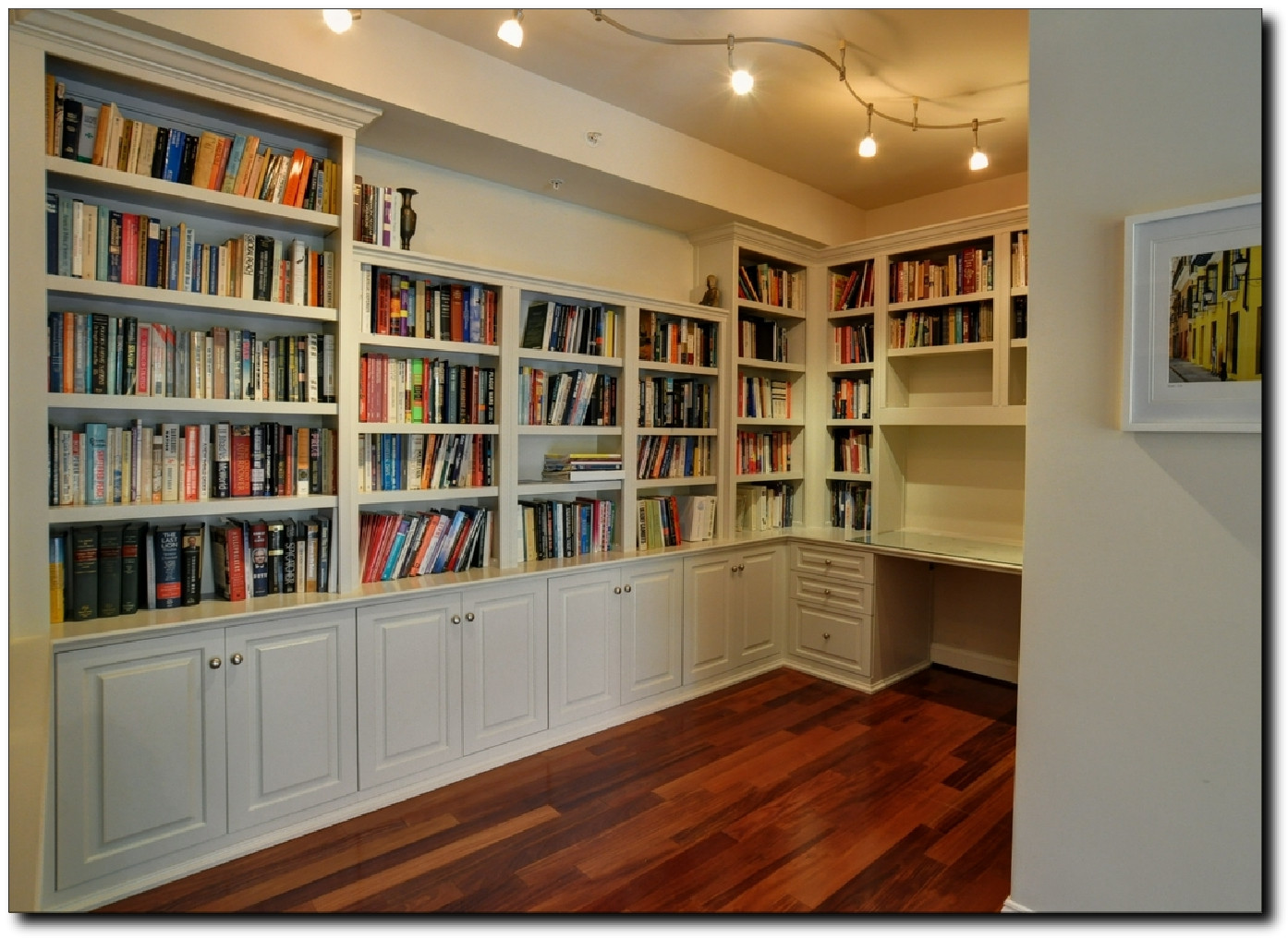 bookcases for home office. Home Office Desk \u0026 Bookcases U-Shape Area Northern Virginia Custom Made Bookcases, And Cabinets For I