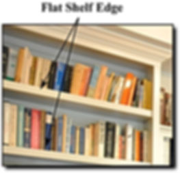 Flat shelf edge on bookcase in Northern Virginia.
