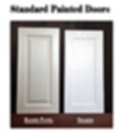 Standard painted doors on custom cabinets in Northern Virginia.