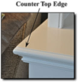 Counter top edge for custom built-in furniture cabinets in Northern VA