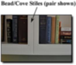 Bead/Cove stiles on bookcases in Alexandria, VA