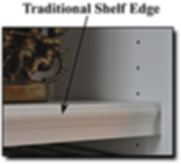 Traditional shelf edge for bookcase in Northern VA
