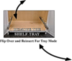 Custom roll out shelf tray drawer for a built-in cabinet from Brave Custom Cabinet maker