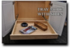 Tray mode for a roll out drawer featured in a custom cabinet maker from Brave Manassas, VA