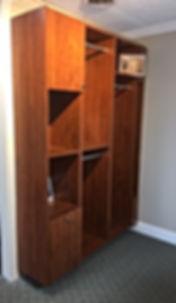 Built-in closet cabinet in our showroom at 10565 Redoubt Road, Manassas, VA
