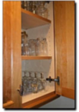Custom built-in cabinet door features in Northern VA