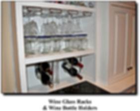 Ccustom built in cabinet wine rack installed in Chantilly, VA