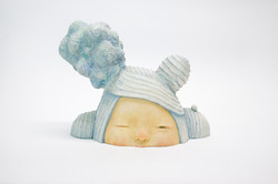 Peeping cloud child