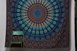 Turquoise Mandala and chair