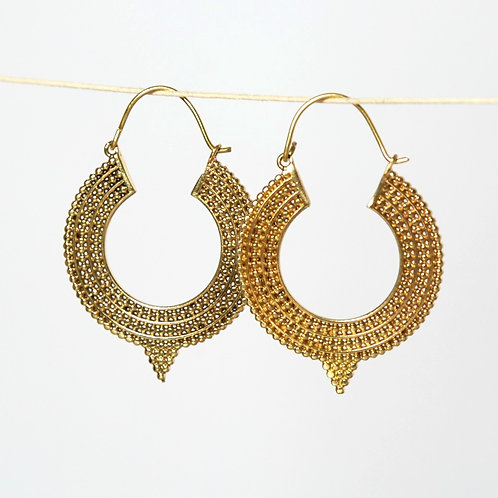 Diva Earrings - Brass