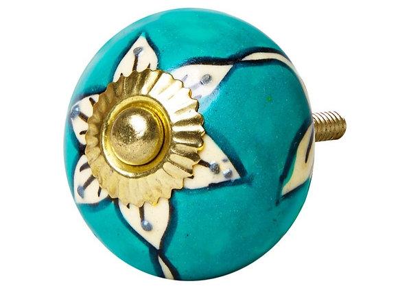 Ceramic Knob - Turquoise Pacific
