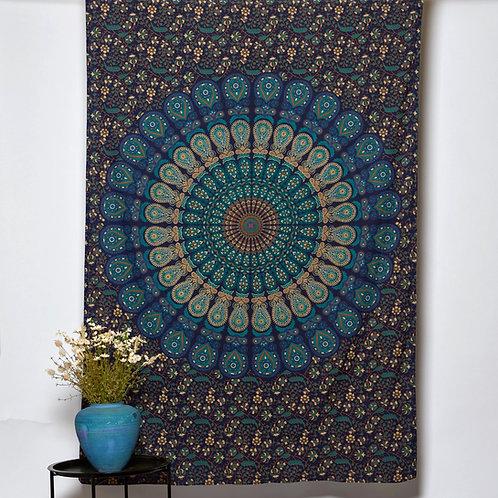 Mandala Cloth - Peacock Design Turquoise