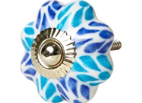 Ceramic Knob - Blue tones  Japanese Style