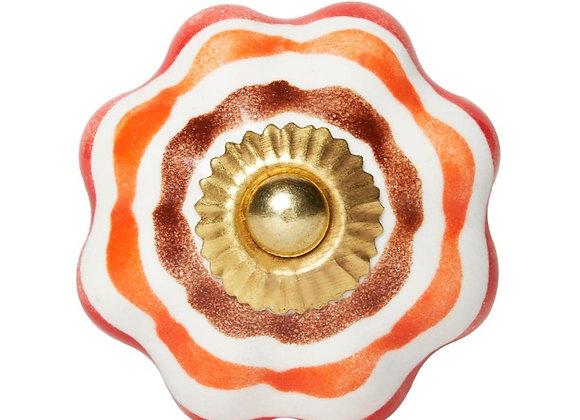 Ceramic Knobs - Orange / Brown / Red
