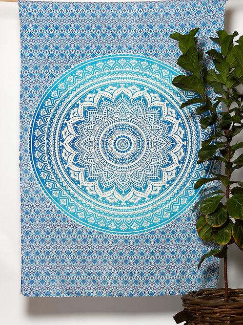 Mandala Cloth -  Pretty Design  Blue/White