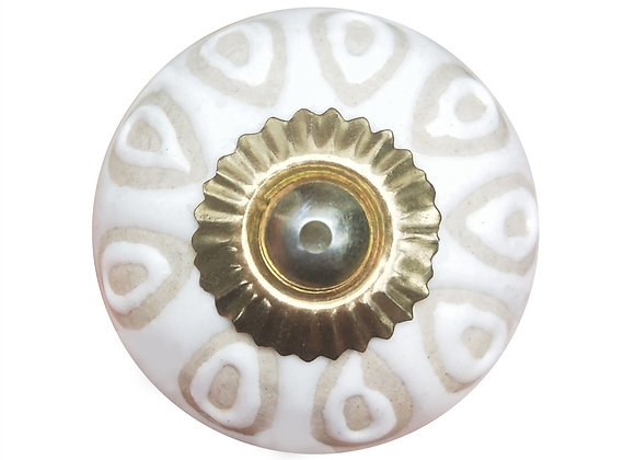 Ceramic Knob - Natural Embossed