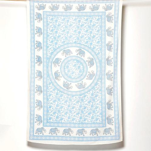 Mandala Cloth - Elephant - Light Blue