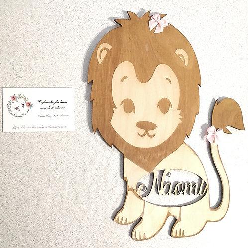 Décoration lion personnalisable