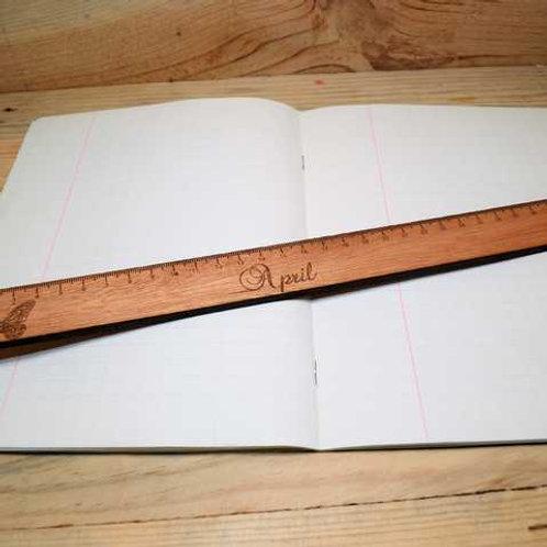 Règle en bois plate personnalisable